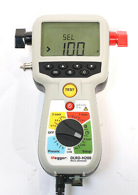 Megger Dlro-h200 Hand Held 200a Micro-ohmmeter Resistance Tester