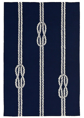AREA RUGS - NAUTICAL KNOTS INDOOR OUTDOOR RUG - NAVY - 42