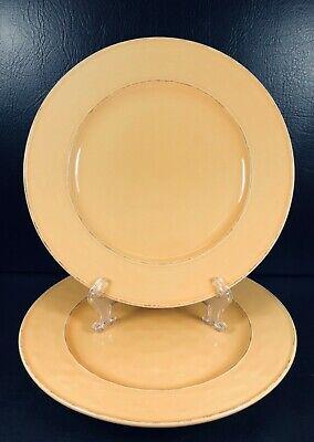 Pier 1 One Martillo Mango Gold Set of 2 Dinner Plates