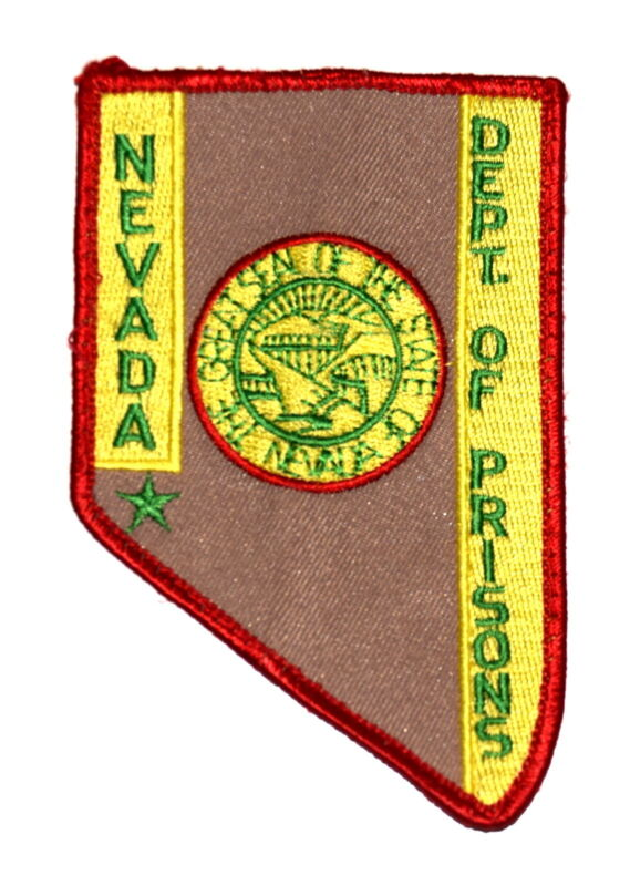 NEVADA - DEPT OF PRISONS - NEVADA NV Police Sheriff Patch - STATE SHAPE - SEAL