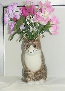 Quail Ceramics Moggy (Cat) Flower Vase