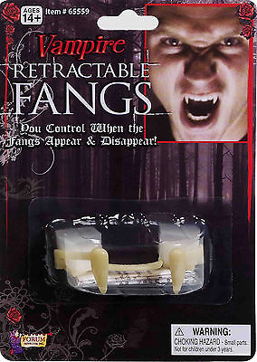 Special FX Retractable Fangs Vampire Teeth Halloween Costume Accessory fnt