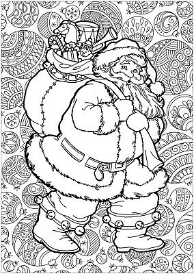 DIGITAL ADULT CHRISTMAS COLOURING PAGES - DOWNLOAD & PRINT DIGITAL PDF 50 PAGES ()