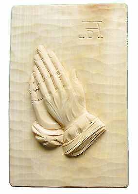 22 x 15 cm Praying Hands Albrecht Dürer Wood Hand-Carved Linde Bright