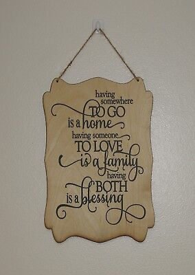 home love family blessing hanging plaque sign  ()