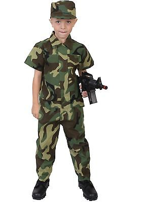 Kids Soldier Costumes (Kids Soldier Costume - Child Camouflage Uniform - Halloween Dress Up, Play)