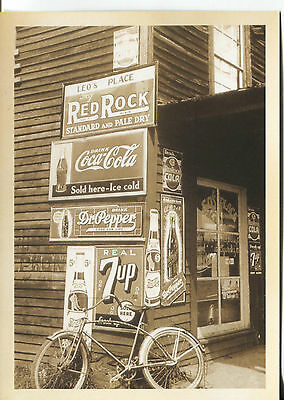 POST CARD OF OLD GENERAL STORE FROM 30'S WITH NEAT ADVERTISING SIGNS