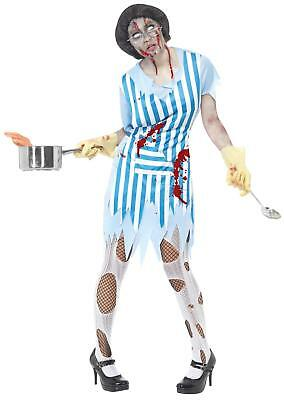 High School Zombie Lunch Lady Adult Costume Size - Lunch Lady Costume