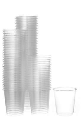 Disposable Plastic Cups Small, Clear 3.5 oz. Snack & Drink Size 6 Pack 300 Cups - Small Clear Plastic Cups
