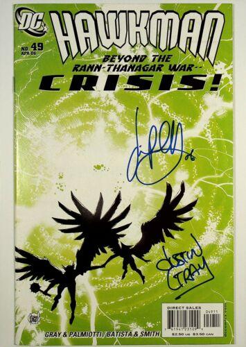 Hawkman #49 Signed x2 Jimmy Palmiotti Justin Gray DC Comics
