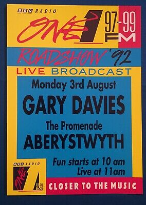 BBC Radio 1 A4 Roadshow '92 Flyer Poster, Gary Davies, Aberystwyth