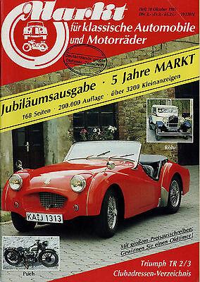 Markt 10/85 1985 Dauphine Matchless NSU OSL 501 Puch Mercedes Heckflosse Röhr