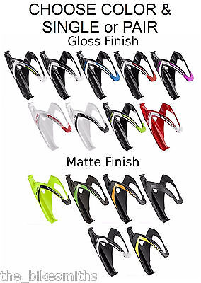 Elite Custom Race Water Bottle Cage Bike Black Red White Asortd Colors Composite