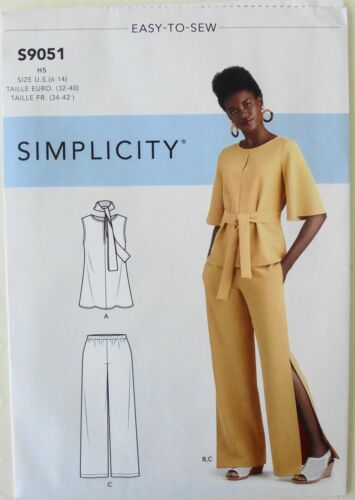 Simplicity 9051 Misses Tops Pants Scarf With Variations Sewing Pattern Sz 6-14