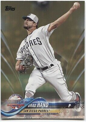 BRAD HAND 2018 Topps Update GOLD Parallel #/2018 - SAN DIEGO PADRES - #US70