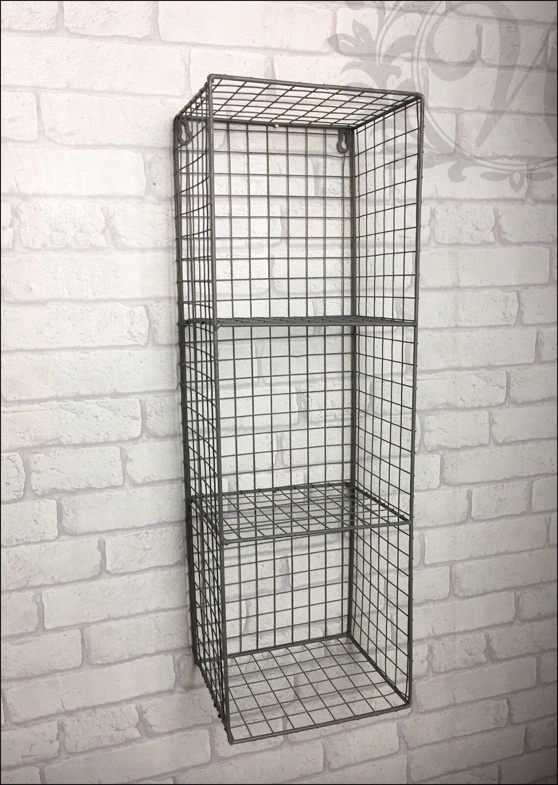Retro Vintage Industrial Style Metal Shelf Rack Storage
