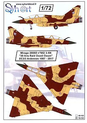 Syhart Decals 1//72 DASSAULT MIRAGE IIIRD 90,000 HOURS SPECIAL SCHEME 1988