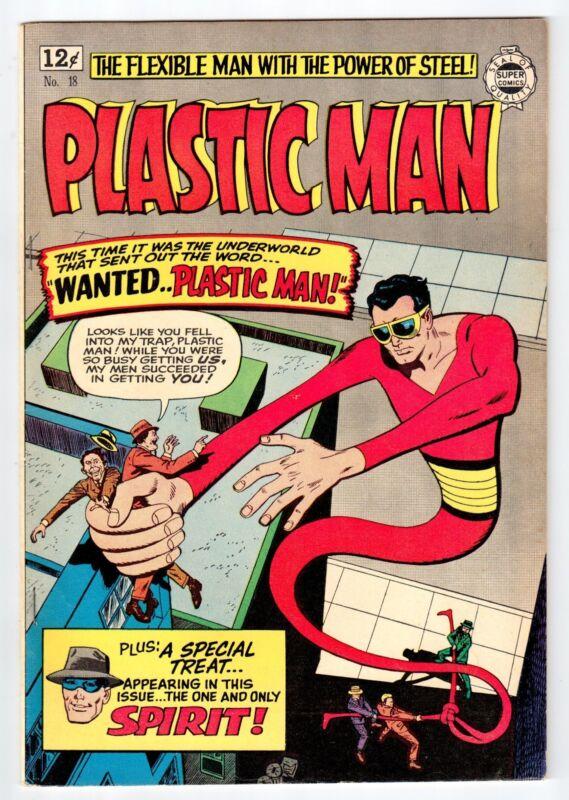 Quality PLASTIC MAN #18 Mar 1963 Reprint vintage comic FN/VF condition