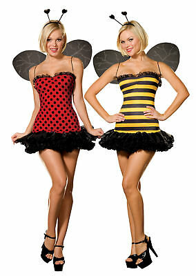Buggin Out Teen Girl Costume Fully Reversible Bumble Bee Knit Fancy Dress Junior