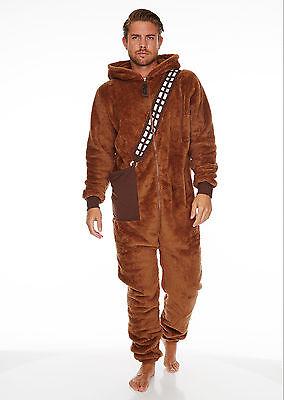 Chewbacca Star Wars Jumpsuit mit Kapuze Einheitsgröße Suit Einteiler neu