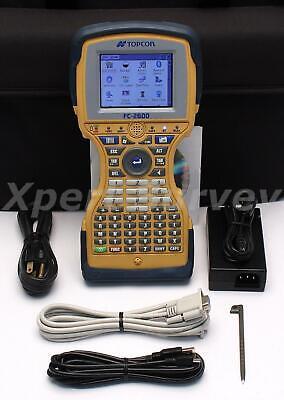Topcon Fc-2600 Field Controller Data Collector W Magnet Field V2.5.1 Fc 2600