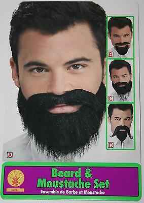 Beard Moustache Set face hair mustache theatrical stage costume black disguise](Theatrical Beards)