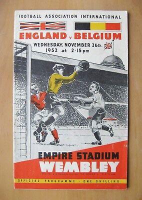 ENGLAND v BELGIUM 1952 *VG Condition Football Programme*