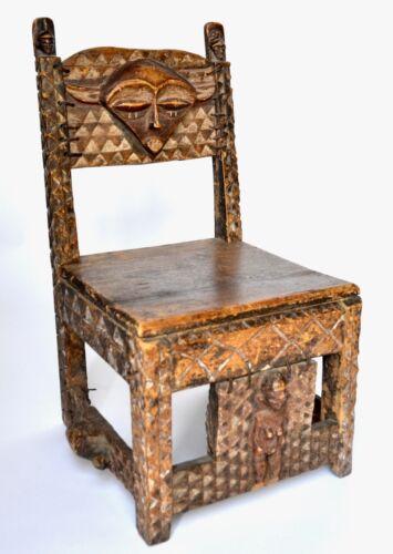 Belguim Congo Pende Tribal Chair Hand Carved, Rare
