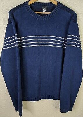 VERSACE JEANS COUTURE Crewneck Striped Sweater Womens 3XL XXL Blue Made In Italy