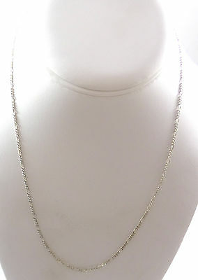 """Vintage Sterling Silver NICE Figaro Chain Necklace 20"""" (3.3g) - 447675"""