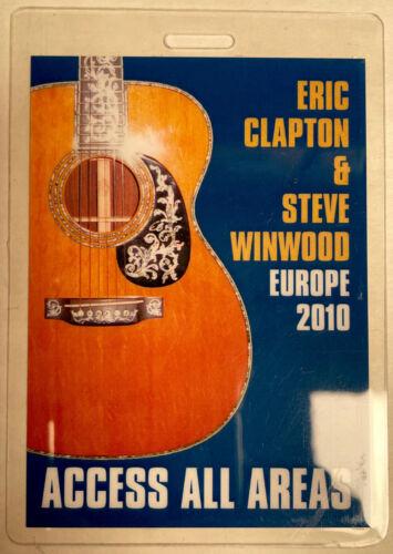 ERIC CLAPTON / STEVE WINWOOD 2010 EUROPE TOUR AAA LAMINATED BACKSTAGE PASS