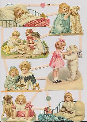 1 Bogen Glanzbilder Poesie Kinder und Tiere Hunde wunderschön ef 7395 Nr.464