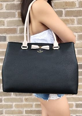 Kate Spade Henderson Street Maryanne Black Tote Shopper Pebble Leather