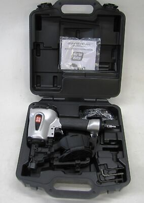 Grip Rite Grtcr175 Pneumatic Coil Roofing Nailer 34 To 1-34 New With Case