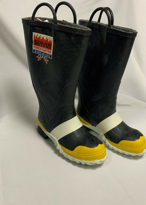 Servus Firefighter Fire Boots Various Sizes - New Old Stock - Never Worn