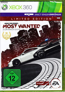 Need for Speed: Most Wanted NFS  Limited Edition XBox 360 Spiel NEU Rennspiel