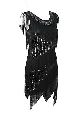 Great Gatsby Women Fashion (1920's Vintage Style Fringed Flapper Dress Great Gatsby Women's Costume)