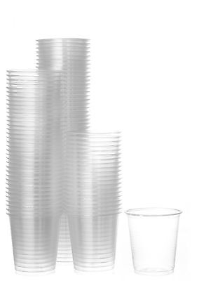Disposable Plastic Cups Small Clear 3.5 oz Drink Tasting Size (100 Cups)