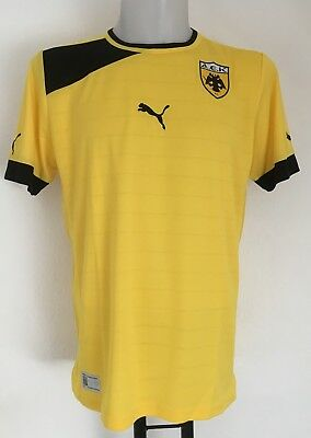 AEK ATHENS S/S UNSPONSORED HOME SHIRT BY PUMA SIZE ADULTS LARGE BRAND NEW