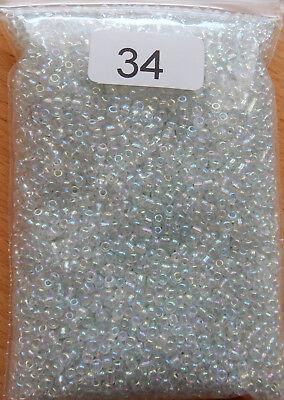 Glasperlen * ROCAILLES 2,3mm * 100gr. * Transparent Rainbow kristall * (34) ()