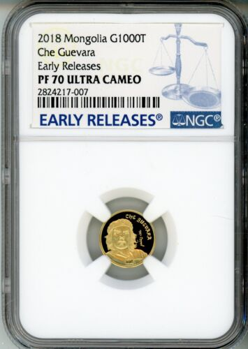 2018 MONGOLIA - CHE GUEVARRA - G1000T- NGC PF 70 EARLY RELEASES - POPULATION: 4