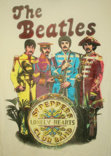 Retro The Beatle Sgt Peppers Lonely Hearts Club Band Tour T-Shirt New Womens Med