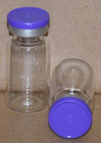 10 mL Clear Sterile Vial with Purple Plain Flip Cap Seal Qty. 5