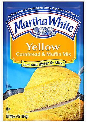 Kosher Bread Mix - 2  6.5oz BAGS YELLOW CORNBREAD MUFFIN MIX Southern Corn Bread Martha White 51301
