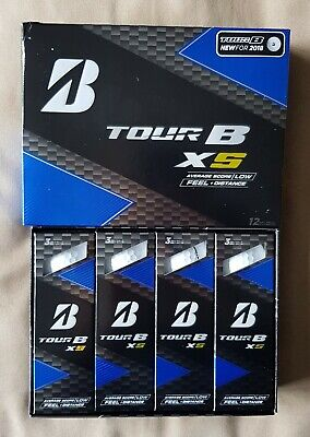Dozen 12 x NEW Bridgestone Tour B X5 2018 White Golf Balls XS