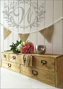 large vintage shabby chic wooden trinket drawers storage rustic design organiser