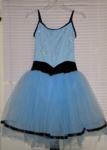 WEISSMAN DANCE COSTUME Adult M Blue Tutu Dress Leotard BALLET