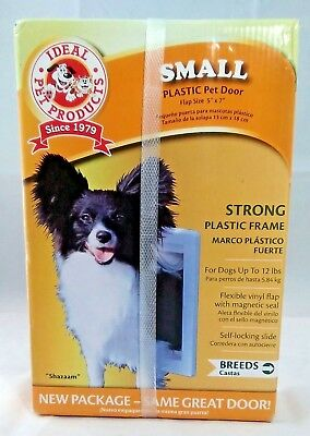 """Ideal Pet Products Small Plastic Pet Dog Door - Flap size 5"""" x 7"""" Opening - New"""