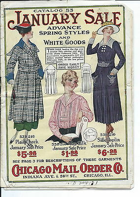 NA-069 - Chicago Mail Order Co, Catalog # 53, Women and Girls Fashions 1920's