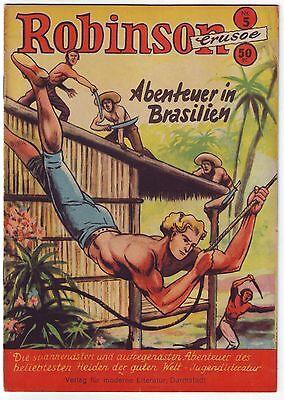 14 x Robinson Crusoe Comic Hefte Originale um 1954 ab Nr. 5